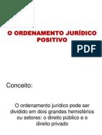 o Ordenamento Juridico Positivo