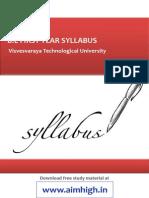 syllabus 1st year vtu
