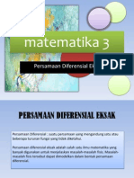 Matematika 3 PD Eksak