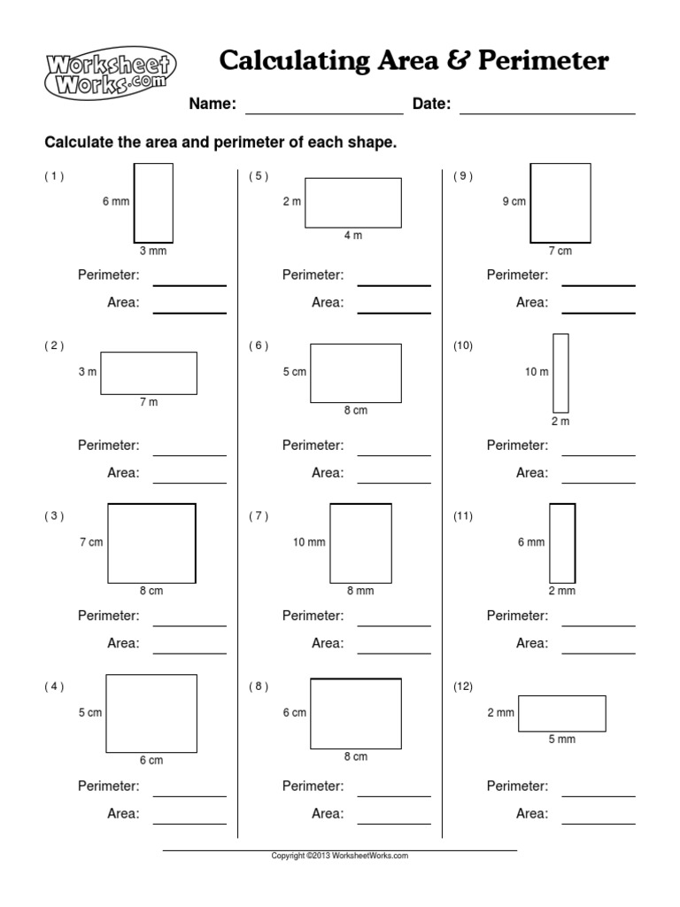 Worksheet Works Calculating Area And Perimeter jannatulduniya – Area and Perimeter Worksheet