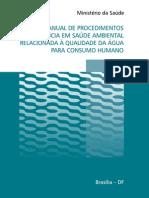 Manual de Procedimentos Relacionados a Qualidade Da Agua