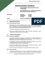 ESPECIFICACIONES TÉCNICAS MANT ALBERGUE