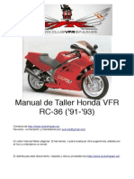 Honda VFR750 RC36 Año 91 93 Libro de Taller