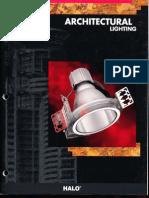 Halo Lighting Architectural Lighting Catalog 1995