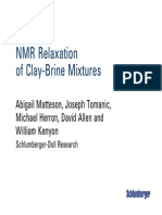 SLB NMR Clay Brine Slides