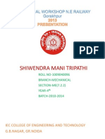 Ppt on Mechanical Workshop Ne Railways Gorakhpur