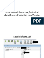 Instructions How to Load Data Into Vensim