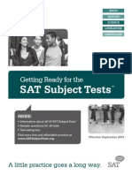 2013 14 Getting Ready for the Sat Subject Tests