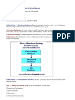 What Are the Steps for Database Testing