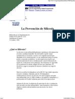 La Prevención de Silicosis