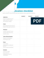 BigFuture College Application Checklist