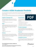 BigFuture Academic Portfolio