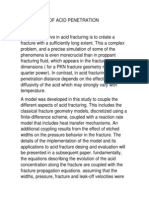 Mechanims of Acid Penetration