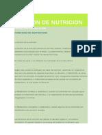 Funcion de Nutricion