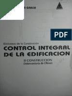Control Integral de La Edificacion. II Construccion (Interventoria de Obras) - German Puyana
