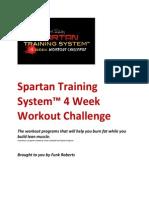 Funk Roberts Spartan Training System 4 Week Workout Challenge