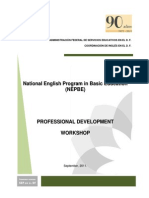 NEPBE Professinal Development Workshop