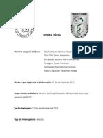 HISTORIA CLÍNICA- 3a roatacion