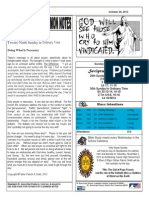 St. Augustine Catholic Church Sunday Bulletin, October 20, 2013