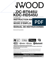 KDC-BT645U - Owners Manual