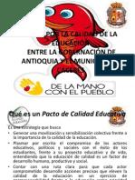 PACTO POR LA CALIDAD DE LA EDUCACIÓN CACERS 2013