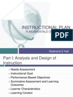 secondary education class instructional plan- shall