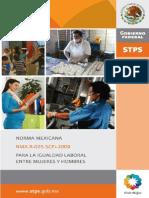 Norma Mexicana Para La Igualdad Laboral