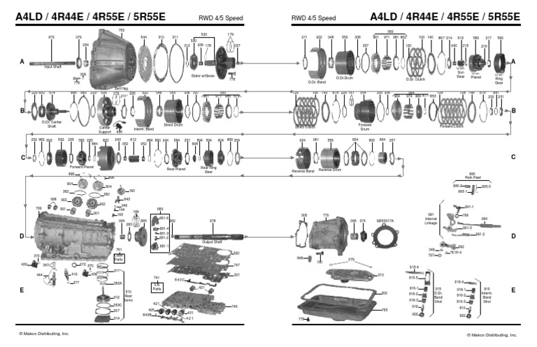 Ford A4ld Transmission Diagram - Wiring Diagram G11