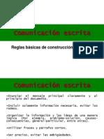 Comunicación escrita Textualización