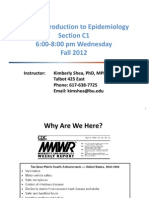 Lecture 1 - Introduction and History of Epi