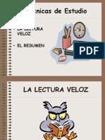 Tecnicasdeestudiolecturaveloz y Resumen