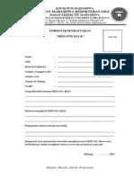 Form Pendaftaran MED GIVE BACK