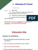 ecture Dislocation slip