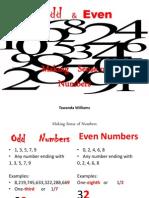 odd even numbersense tawandawilliams