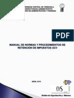 Manual Retenciones de Impuestos Ucv