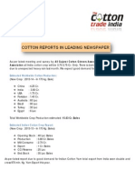 Latest Cotton Report in News Paper