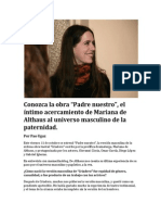 """Conozca """"Padre Nuestro"""" de Mariana de Althaus"""