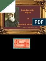 Leadership Style of Jamshed Ji