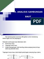 struktur kayu - Ix. Analisis Sambungan Baut