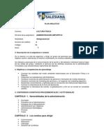 Plan Analítico Administración Deportiva