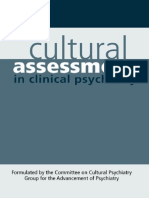 Ruiz Cultural Assessment in Clinical Psychiatry