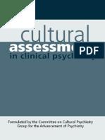 Ruiz Cultural Assessment in Clinical Psychiatry