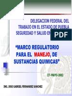 Marco Regulatorio Para El Manejo de Sust Quimicas