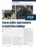 Energy Audit improvements in small office buildings