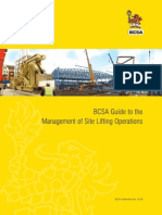BCSA Guide to the Management of Site Lifting Operations