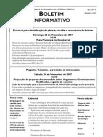 Boletim MPI n.º 11 - Novembro de 2007