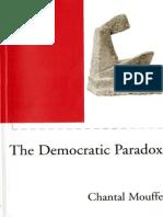 Chantal Mouffe - The Democratic Paradox