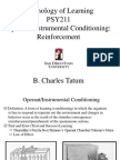 PSY211 Operant Conditioning Reinforcement