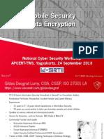Mobile Security - Data Encryption - APCERT Yogyakarta 24 Sept 2013