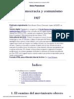 Pannekoek_ Socialdemocracia y Comunismo (1927)